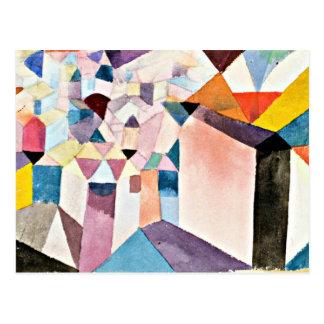 Paul Klee art: Insight into a City Postcard