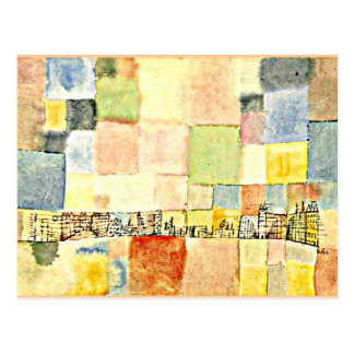 Paul Klee art - Neuer Stadtteil in M Postcard