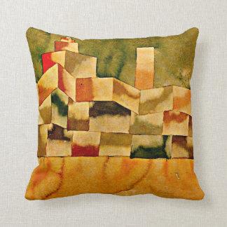 Paul Klee art: Oriental Architecture Cushion