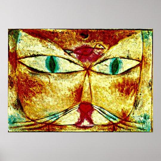 Paul Klee art poster: Cat and Bird Poster
