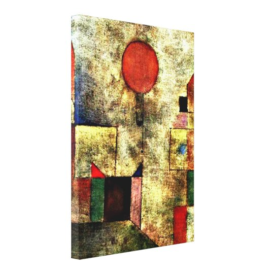 Paul Klee art: Red Balloon Canvas Print