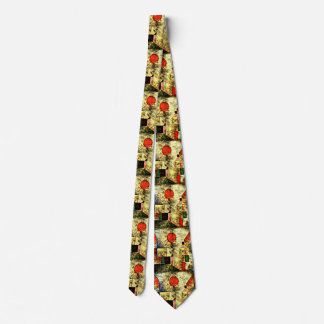 Paul Klee art: Red Balloon, famous Klee painting Tie