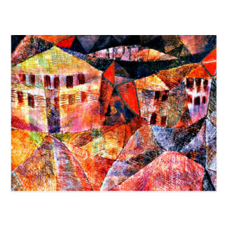 Paul Klee art: The Hotel, famous painting by Klee Postcard