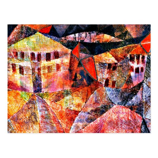 Paul Klee art: The Hotel, famous painting by Klee Postcards