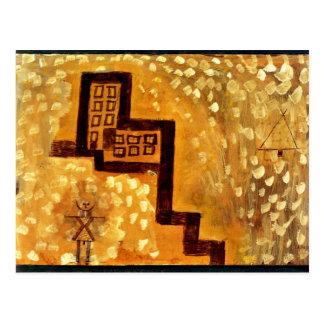 Paul Klee art The House on High Postcard
