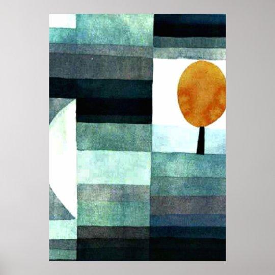 Paul Klee art: The Messenger of Autumn Poster