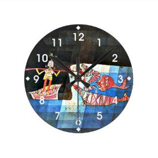 Paul Klee art - The Seafarer Wall Clock