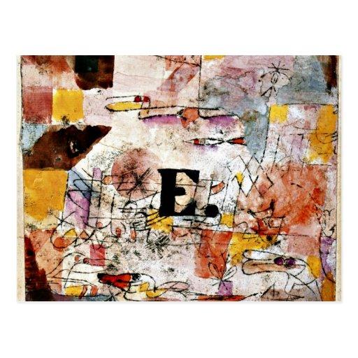 Paul Klee art: Waterfowl - Duck painting Postcards