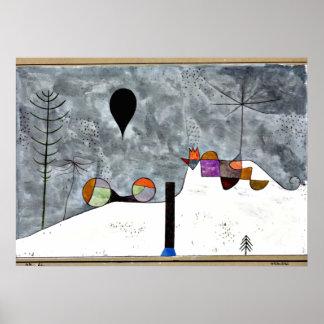 Paul Klee art: Winter Painting Poster