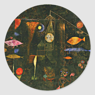 Paul Klee artwork, Fish Magic Round Sticker
