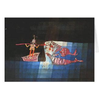 Paul Klee- Battle scene from the comic 'Seafarer' Card