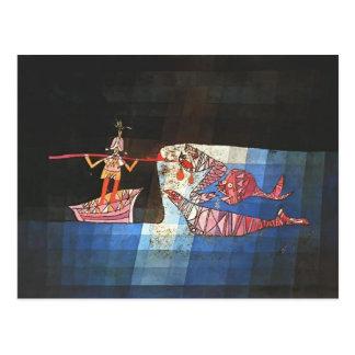 Paul Klee- Battle scene from the comic 'Seafarer' Postcard