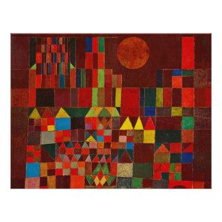 Paul Klee Castle And Sun 21.5 Cm X 28 Cm Flyer