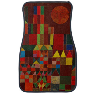 Paul Klee Castle And Sun Colorful Abstract Art Floor Mat