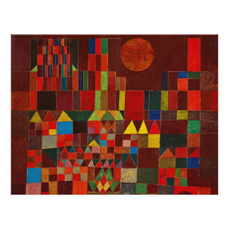 Paul Klee Castle And Sun Full Color Flyer