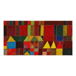 Paul Klee Castle And Sun Customized Photo Card