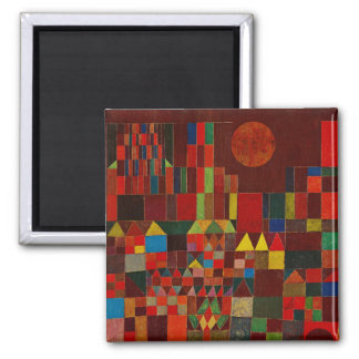 Paul Klee Castle And Sun Square Magnet