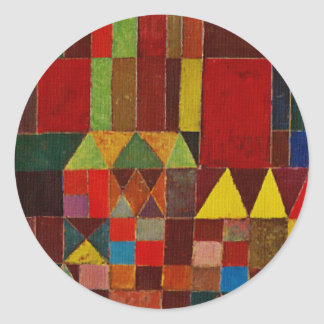 Paul Klee Castle And Sun Round Sticker