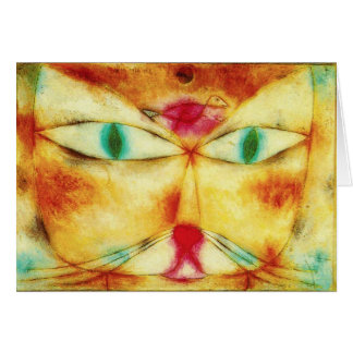 Paul Klee Cat and Bird Greeting Card