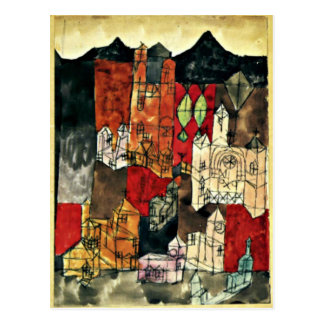 Paul Klee - City of Churches Postcard