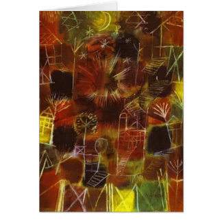Paul Klee- Cosmic Composition Card