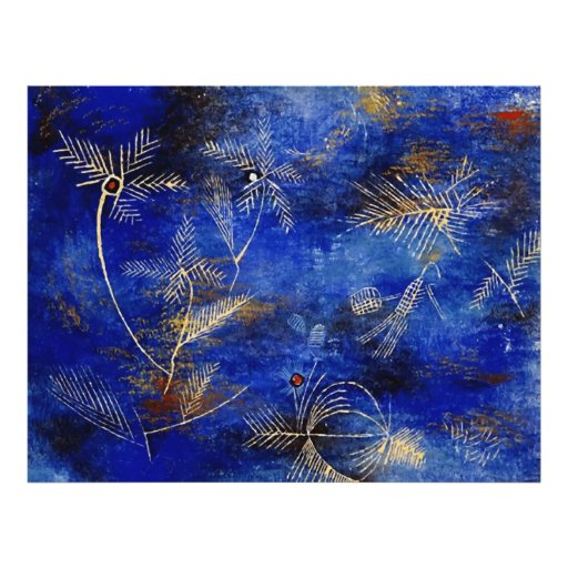 Paul Klee Fairy Tales Abstract Art Custom Flyer