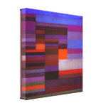 Paul Klee Fire in the Evening Canvas Print