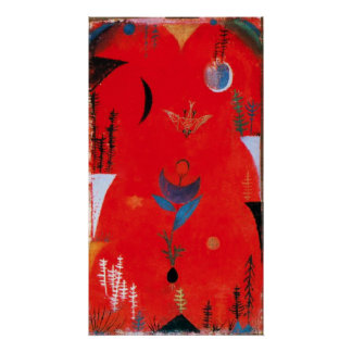 Paul Klee Flower Myth Poster