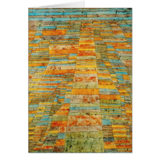 Paul Klee Highways and Byways Greeting Card