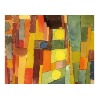 Paul Klee In The Style Of Kairouan Watercolor Art 21.5 Cm X 28 Cm Flyer