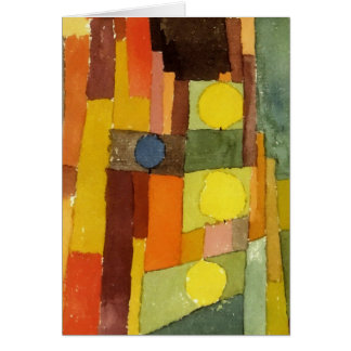 Paul Klee In The Style Of Kairouan Watercolor Art Card