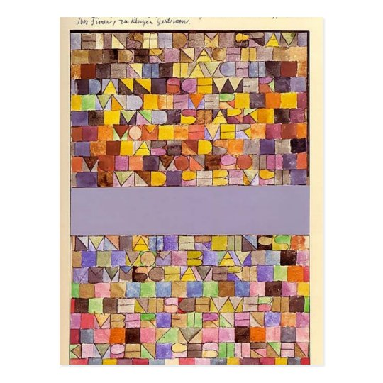 Paul Klee: Once Emerged from the Grey of Night Postcard