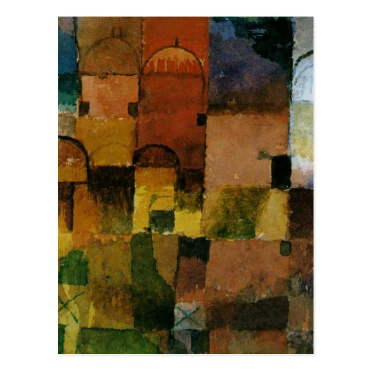 Paul Klee - Red and White Domes painting