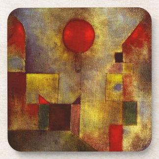 Paul Klee Red Balloon Coasters