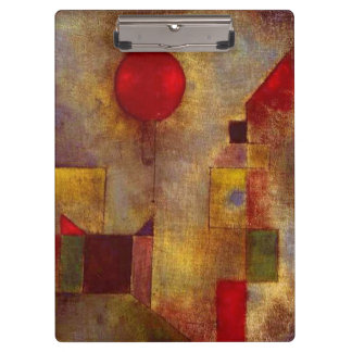 Paul Klee Red Balloon Colorful Abstract Clipboard