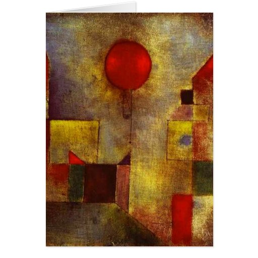 Paul Klee Red Balloon Greeting Card