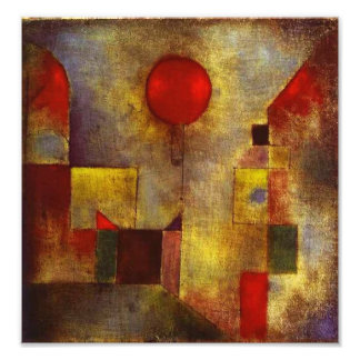 Paul Klee Red Balloon Photo Print