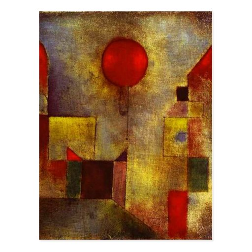 Paul Klee Red Balloon Postcard