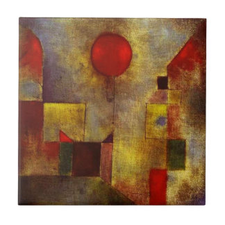 Paul Klee Red Balloon Small Square Tile