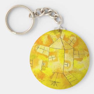 Paul Klee: Revolving House Keychain