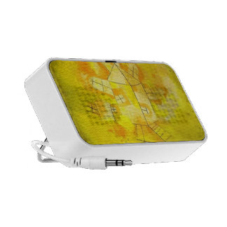 Paul Klee: Revolving House Laptop Speakers