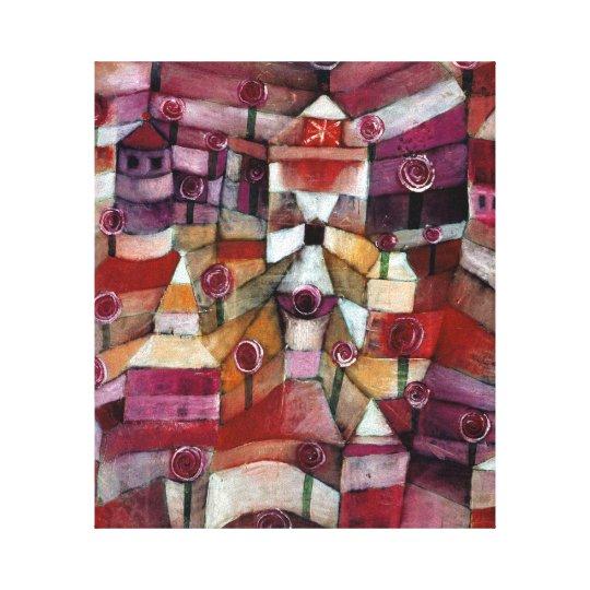 Paul Klee Rose Garden Canvas Print
