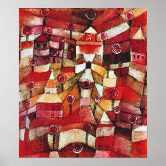 Paul Klee Rose Garden Poster