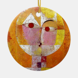 Paul Klee Senecio Painting Round Ceramic Decoration