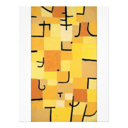 Paul Klee - Signs In Yellow Custom Flyer