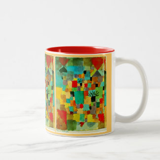 Paul Klee - Southern (Tunisian) Gardens Two-Tone Mug