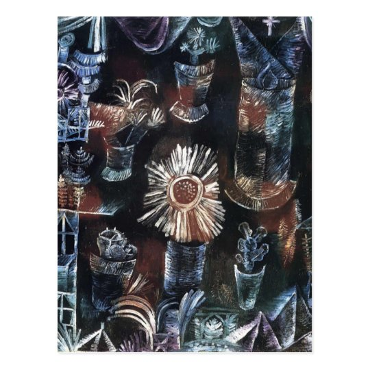 Paul Klee- Still Life with Thistle Bloom Postcard