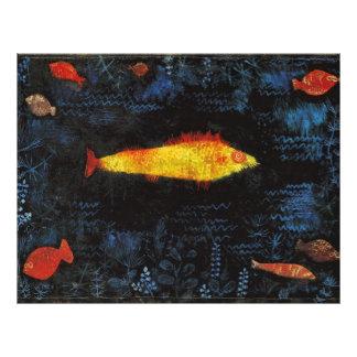 Paul Klee The Goldfish Vintage Watercolor Art 21.5 Cm X 28 Cm Flyer