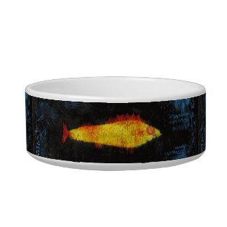 Paul Klee The Goldfish Vintage Watercolor Art Cat Water Bowl