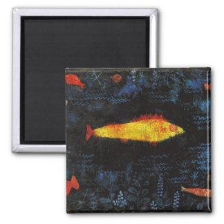 Paul Klee The Goldfish Vintage Watercolor Art Square Magnet